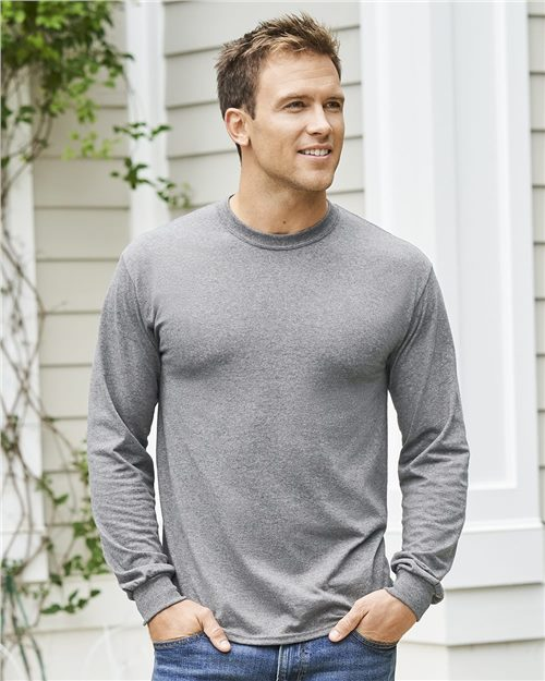 Gildan 5400 Heavy Cotton™ Long Sleeve T-Shirt Model Shot
