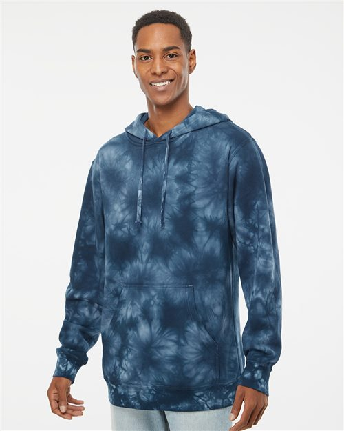 Independent Trading Co. PRM4500TD Midweight Tie-Dye Hooded Sweatshirt Model Shot